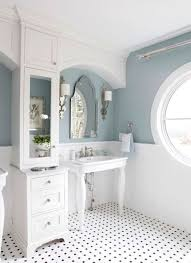 popular cool bathroom color: down load white and blue gray bathroom paint colors with circle window