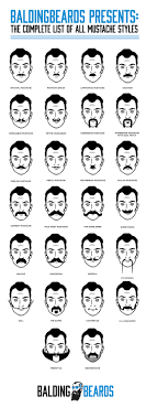 Mustache Styles Chart 26 Best Mustache Styles For Men You Should Try At Least Once