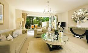 living room with mirrored furniture. Mirrored Living Room Furniture Table With L