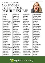 English Grammar - Powerful verbs for your resume (More resume writing tips  here: http://www.grammarcheck.net/resume-writing/) | Pinterest | Resume  writing, ...
