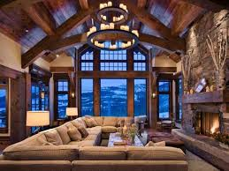 beautiful country living rooms. Living Room Design With Stone Fireplace And Ceiling Beams Beautiful Country Rooms