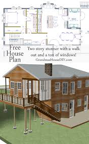 Free House Plan Two Story With A Walk Out Basement - House with basement plans