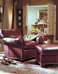 robinson tilt back leather chair ottoman