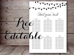 Free Night Light Wedding Chart Printable Bride Bows