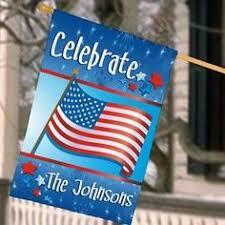 personalized july 4th celebration house flag findgift