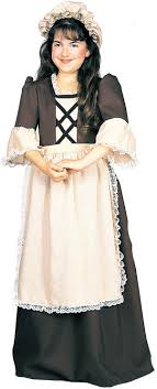 pioneer girl costume. colonial girl child costume fancy dress pilgrim historical pioneer m