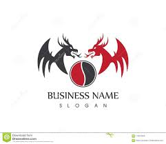 template of a dragon dragon logo vector template stock vector illustration of brand
