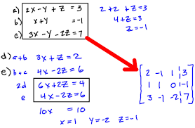 solving a system of equations using algebra