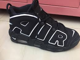 Is Uptempo Or Air Niketalk Real nike Fake This Black white