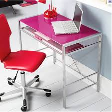 neo pink computer desk double star furniture