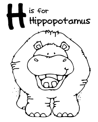 Small Picture hippo outline with free clipart outline cute baby hippo animal