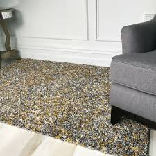thick soft ochre yellow grey speckled gy rugs non shed warm cosy area rug uk