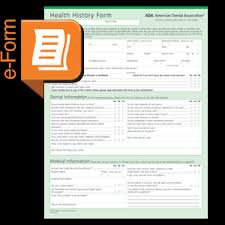 medical health history form downloadable ada health history form s500d