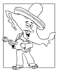Small Picture Mexico Map Coloring Page Coloring Home
