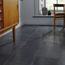 black slate floor tiles. Brushed Black Slate Tiles Floor A