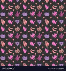 Halloween Pattern Enchanting Cute Halloween Pattern Background Royalty Free Vector Image