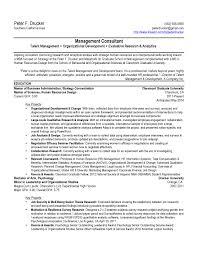 sample resume mba