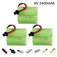 6V 2400Mah Sạc Pin Cho Điều Khiển Từ Xa Đồ Chơi Súng Ô Tô Xe Tải Xe Tăng  Chiếu Sáng Cơ Sở Pin Dự Phòng Phần|Parts & Accessories