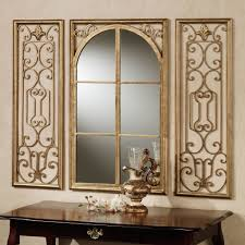 image of small decorative wall mirrors wood frame