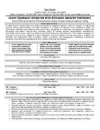 list of core competencies for resumes equipment operator resume example