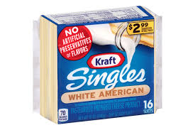 american cheese slices. Contemporary Cheese Kraft Singles White American Cheese Slices 16 Ct Pack Inside