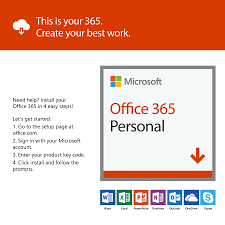 Microsoft Office 365 Pricing Microsoft Office 365 Personal 1 User 1 Year Subscription