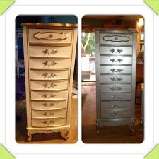 silver painted furniture. paint furniture with gripper as a primer and metallic silver painted t