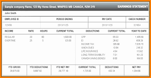 Online Pay Stub Generator Canadian Pay Stub Generator 8773