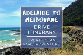 adelaide to melbourne drive itinerary
