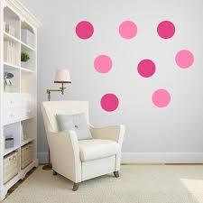 pink polka dot wall decal pack