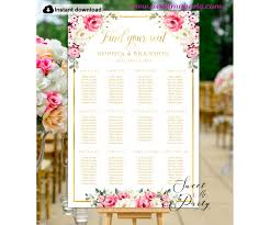 Ivory Red Roses Seating Chart Template Red Roses Wedding Seating Plan Template 146