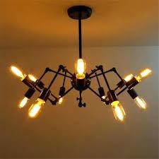 edison bulb chandelier bulb light fixtures new spider chandelier vintage wrought iron pendant lamp loft style edison bulb chandelier