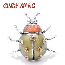 <b>CINDY XIANG New Color</b> Arrival Enamel Ladybug Brooches for ...