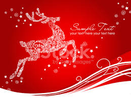 Christmas Design Template Christmas Reindeer Greeting Design Template Stock Vector