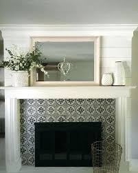 Budget Stencils Fireplace Facing Ideas Stenciled Surround On A Budget Using