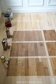 choosing floor stains top bottom 1 waterborn clear coat 2 polyurethane 3 duraseal nutmeg stain 4 duraseal provincial stain 5 minwax weathered oak
