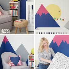 home office home office makeover emily. Oh Joy NurseryOffice Makeover The Mountain Wall Mural Emily Henderson Home Office I