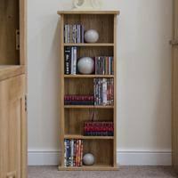 marseille solid oak cddvd storage tower small bookcase mobel solid oak dvd
