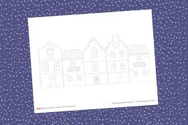 Free printable coloring pages for kids! Paper Christmas Village Template Yes We Made This
