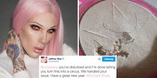 jeffree star is in a twitter war with a disturbed fan who found hair in her highlighter
