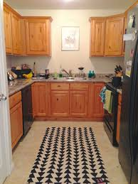 kitchen rug with black triangle patterns u shape set marble