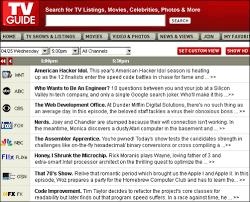 tv listings. geek\u0027s tv guide tv listings