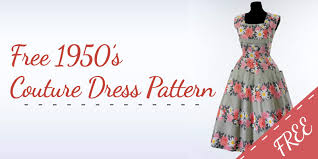 Simple Dress Pattern For Beginners Interesting FREE Couture 48s Dress Pattern Beginners Dress Pattern