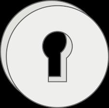 door lock and key cartoon. Door Handle With Solid Metal Lock And Key-hole. Key Cartoon