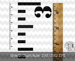 Growth Ruler Dxf Svg Eps File For Use With Your Silhouette