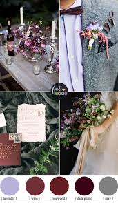 plum and wine wedding colors grey lavender fabmood