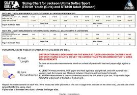Jackson Size Chart 35 Specific Ccm Skate Size Chart Width