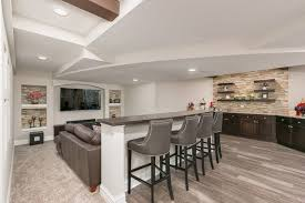 basement home theater bar. basement home theater bar and knee wall transitional-basement