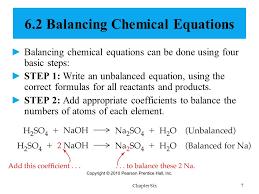 6 2 balancing chemical equations