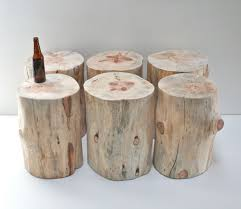 tree trunk furniture for sale. Stump+Table+Naked+Tree+Trunk+Stool+Seat+by+ Tree Trunk Furniture For Sale